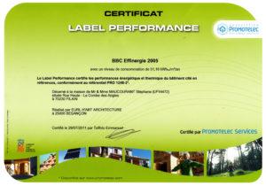 Certif BBC Effinergie  MAUCOURANT - FILAIN copie